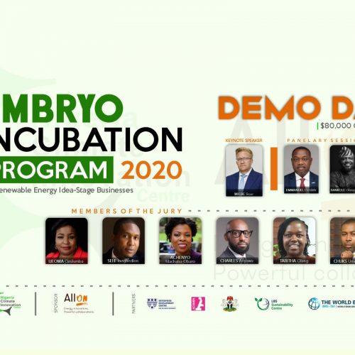 Demo Day: NCIC/AllOn Embryo Incubation Program 2020